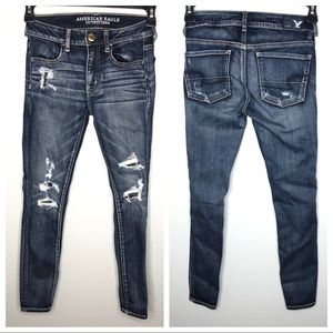 4 / $25 American Eagle distressed jegging jeans
